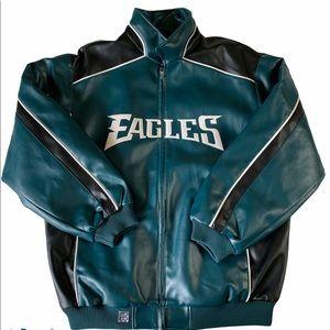 Philadelphia Eagles NFL Faux Leather Jacket